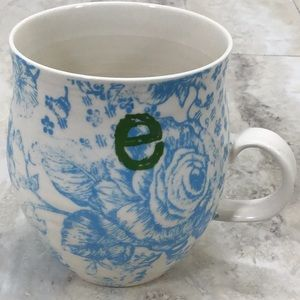 Anthropology Initial E Mug Coffee Ceramic Monogram